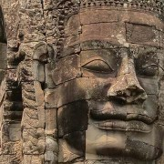 Faces on Bayon Temple Towers - Angkor, Cambodia