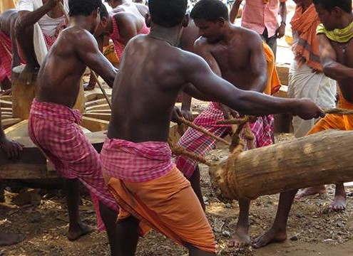 Chariot Builders in Puri, India
