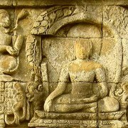 Relief at Borobudur Lalitavistara - Triumphs As Buddha