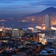 Naples Skyline with Vesuvius - Napoli, Italy