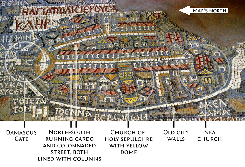 Madaba Map of Jerusalem. Photo by Jean Housen