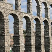 Roman Aqueduct in Segovia Spain